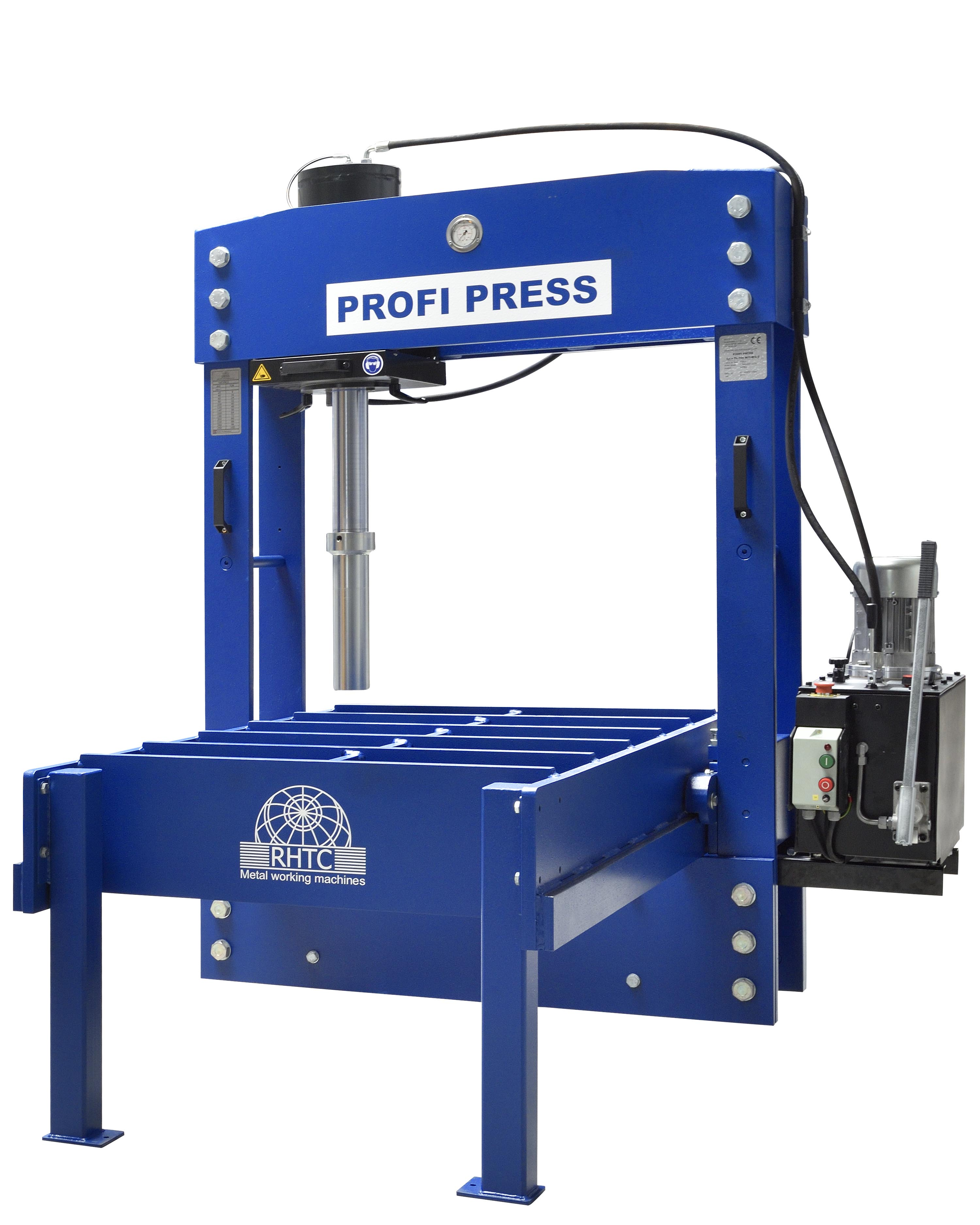 presse hydraulique a portique et tete mobile PROFI PRESS TL 100 RHTC deplacement 2